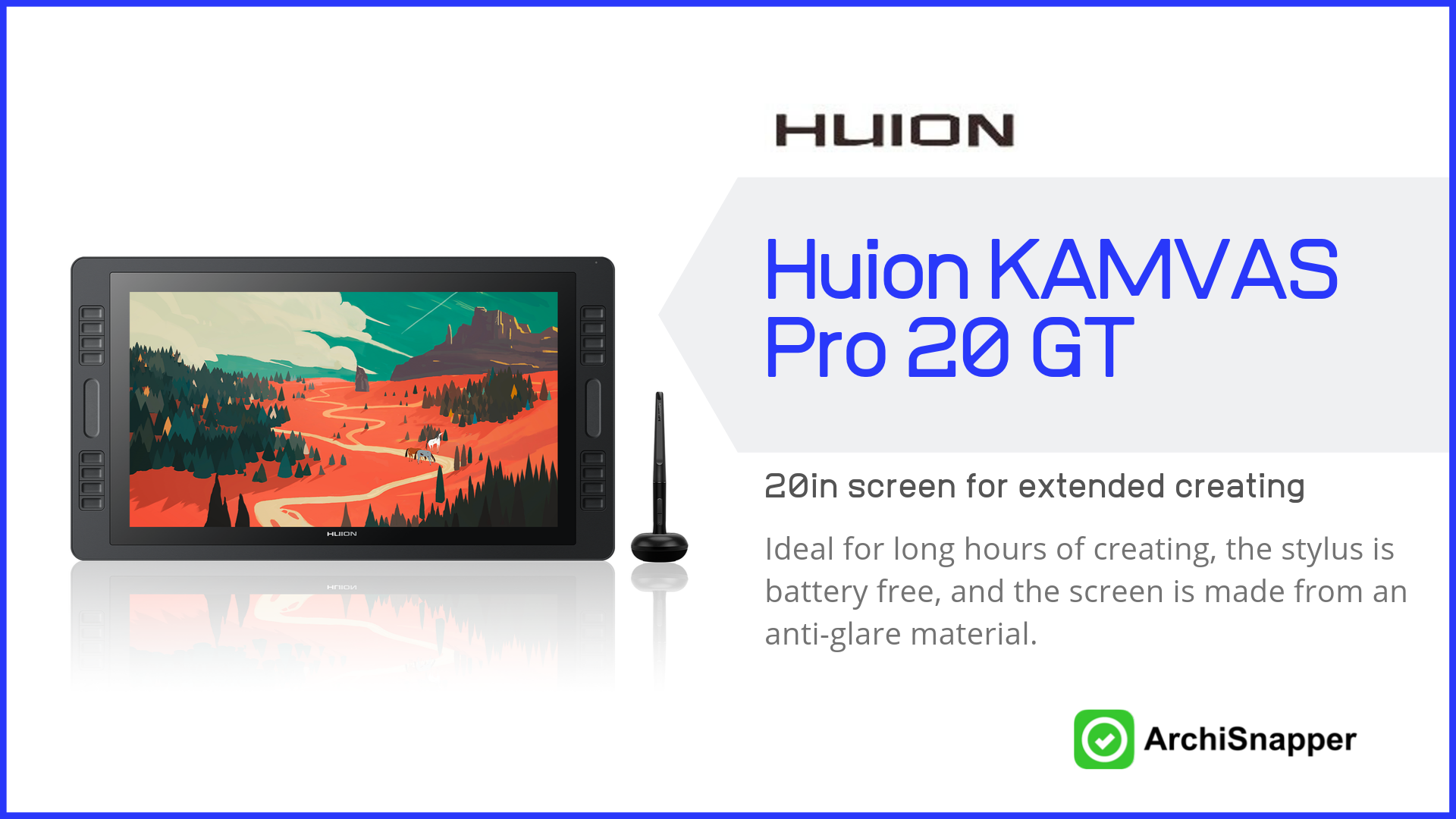 Huion KAMVAS Pro 20 GT | List of the 14 must-have tech tools and accessories ideal for architects