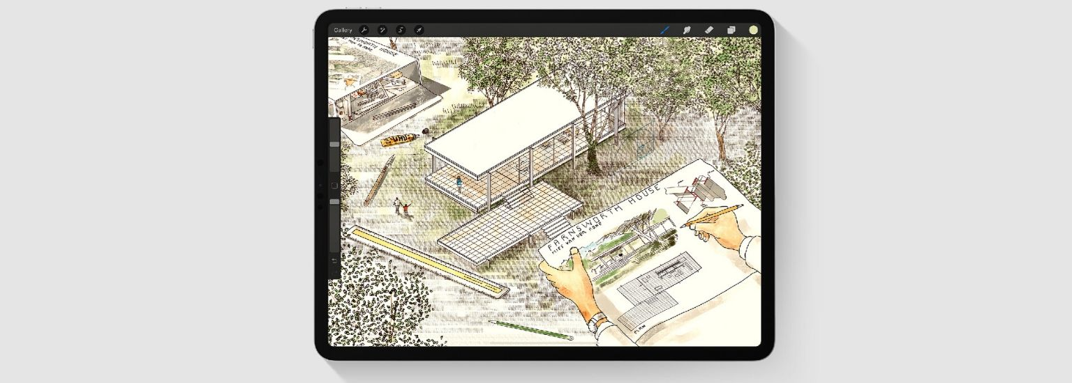 Best apps for Architects - Procreate - screenshot | ArchiSnapper Blog