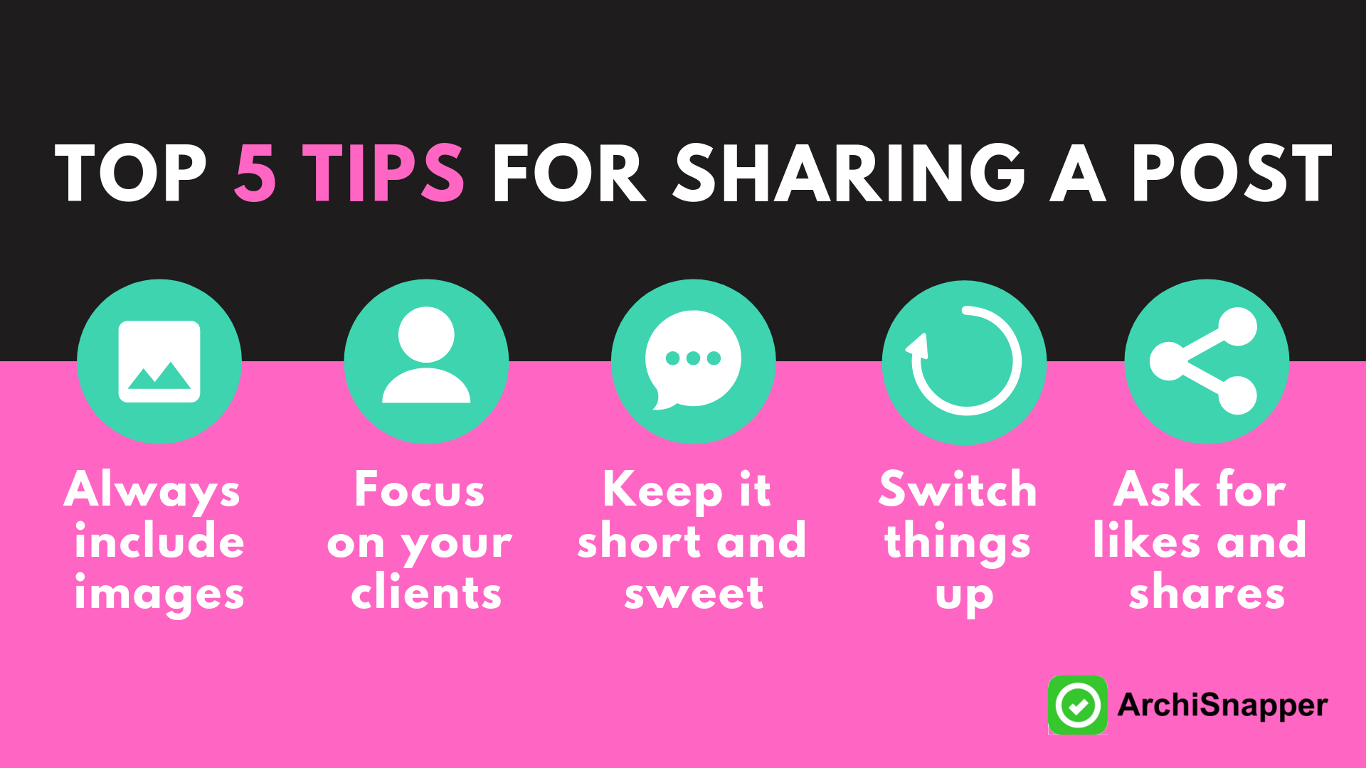 How to share a post on Social Media | Archisnapper