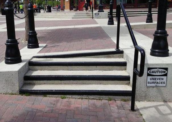Caution Uneven surfaces | Archisnapper presents 20 hilarious staircase building fails