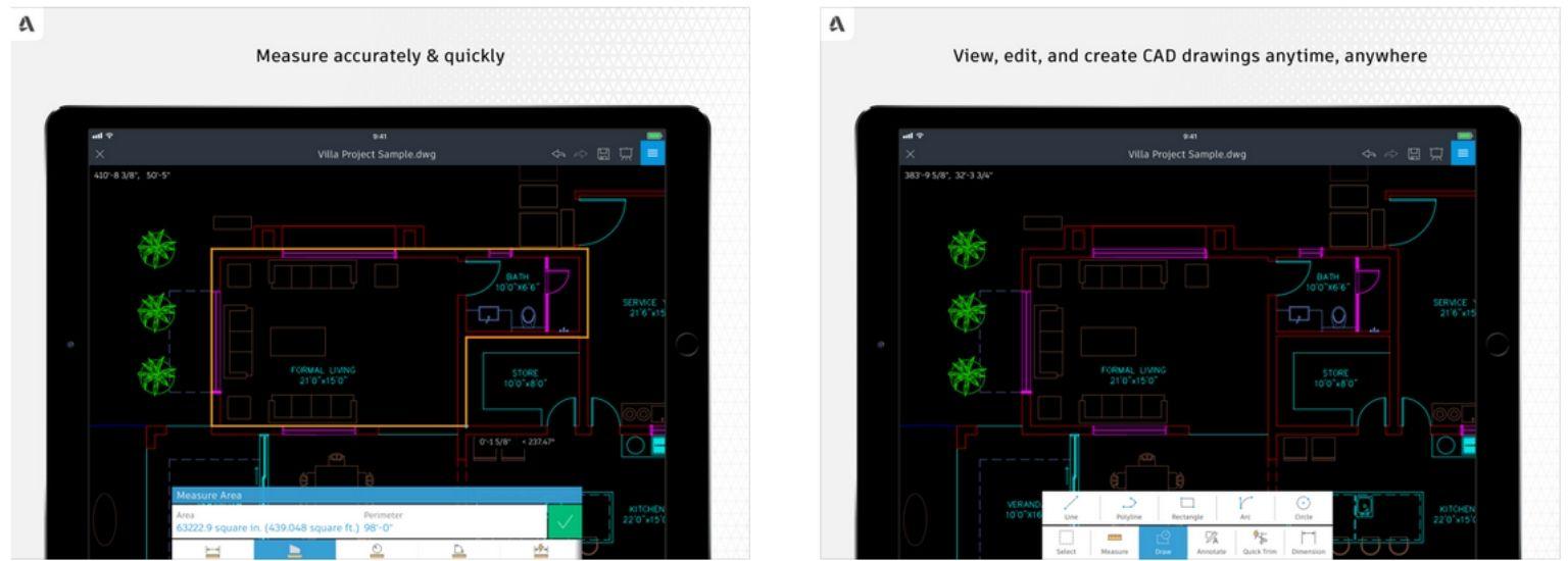بهترین برنامه ها برای معماران - اتوکد - عکس صفحه نمایش iPad | وبلاگ ArchiSnapper