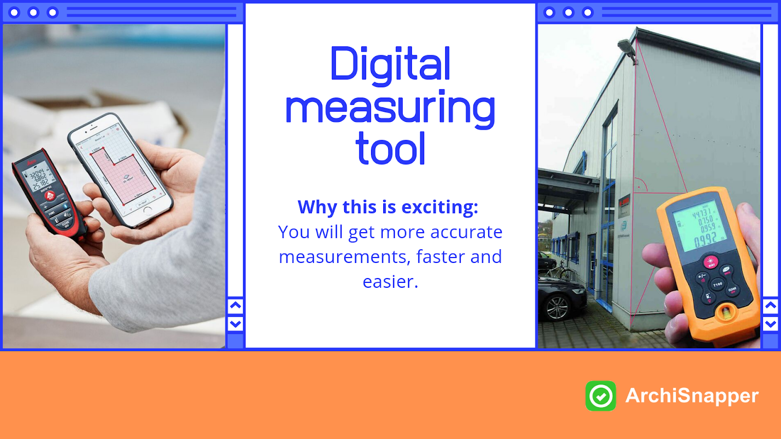 Digital measuring tool | List of the 15 must-have tech tools and accessories ideal for architects presented by Archisnapper