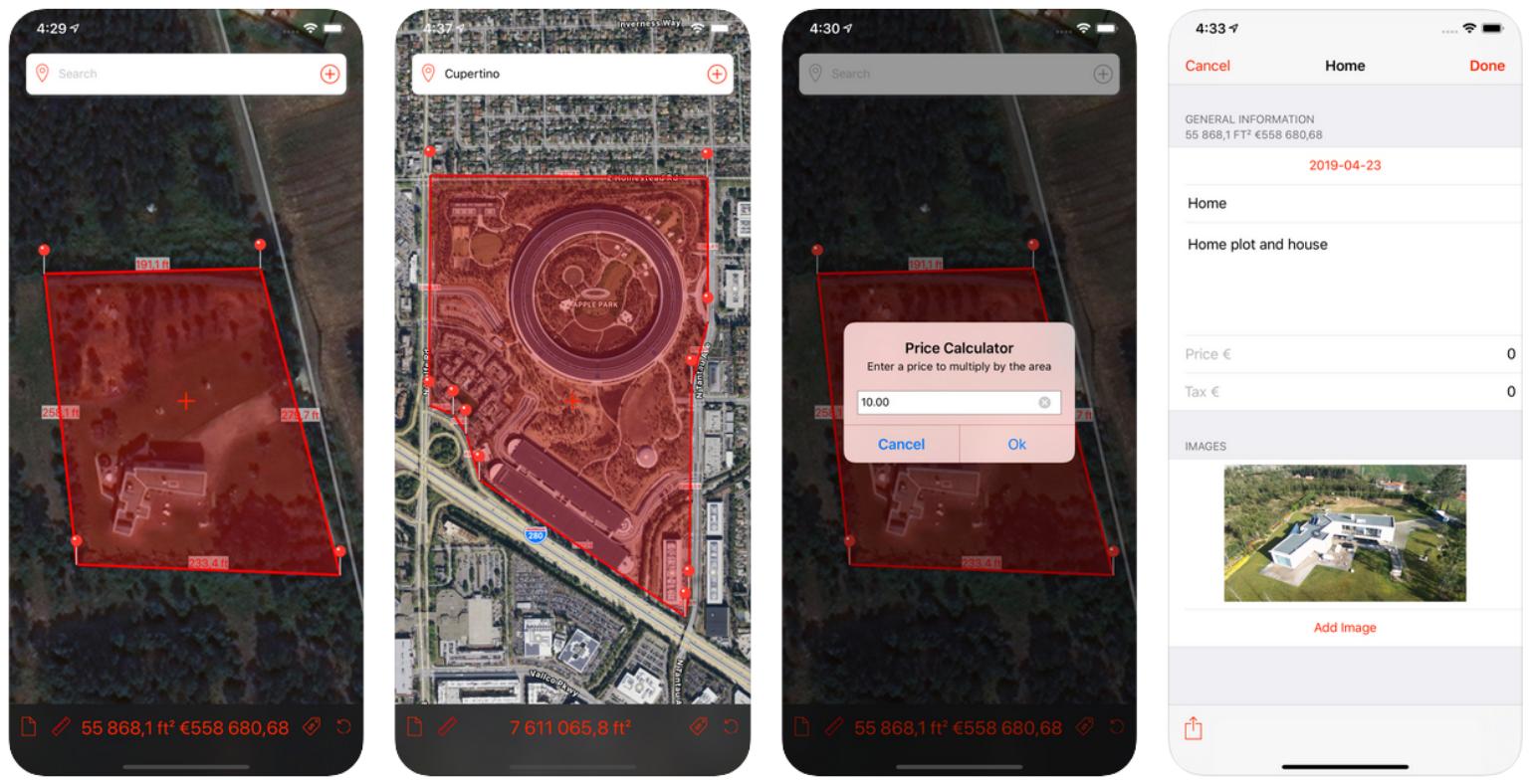 Marea-app-for measuring big surfaces