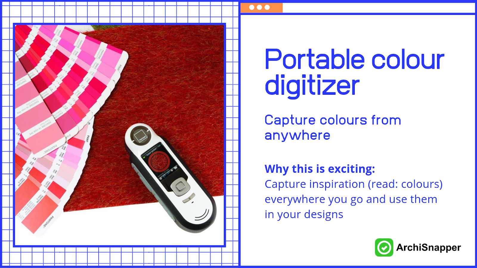 Portable colour digitizer | List of the 15 must-have tech tools and accessories ideal for architects presented by Archisnapper.