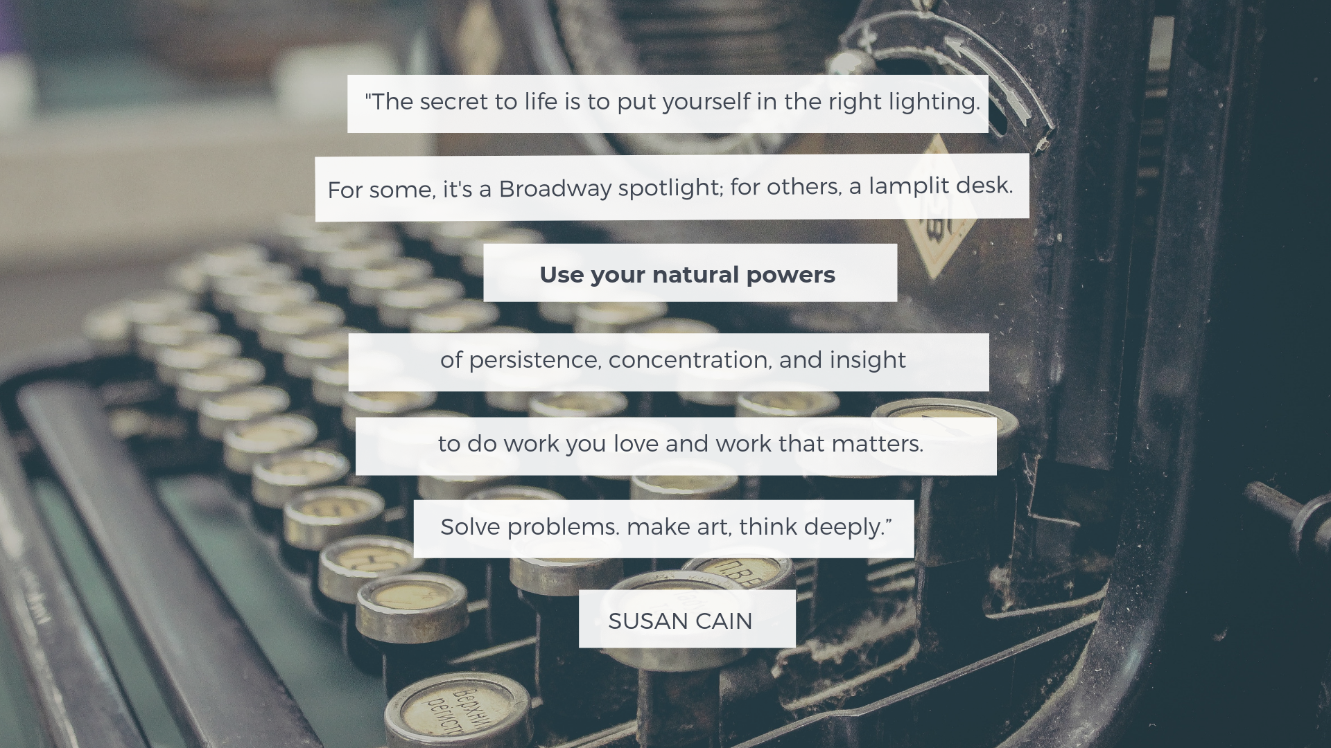Quote from Susan Cain's Quiet to Inspire Introverted Architects | Archisnapper 4