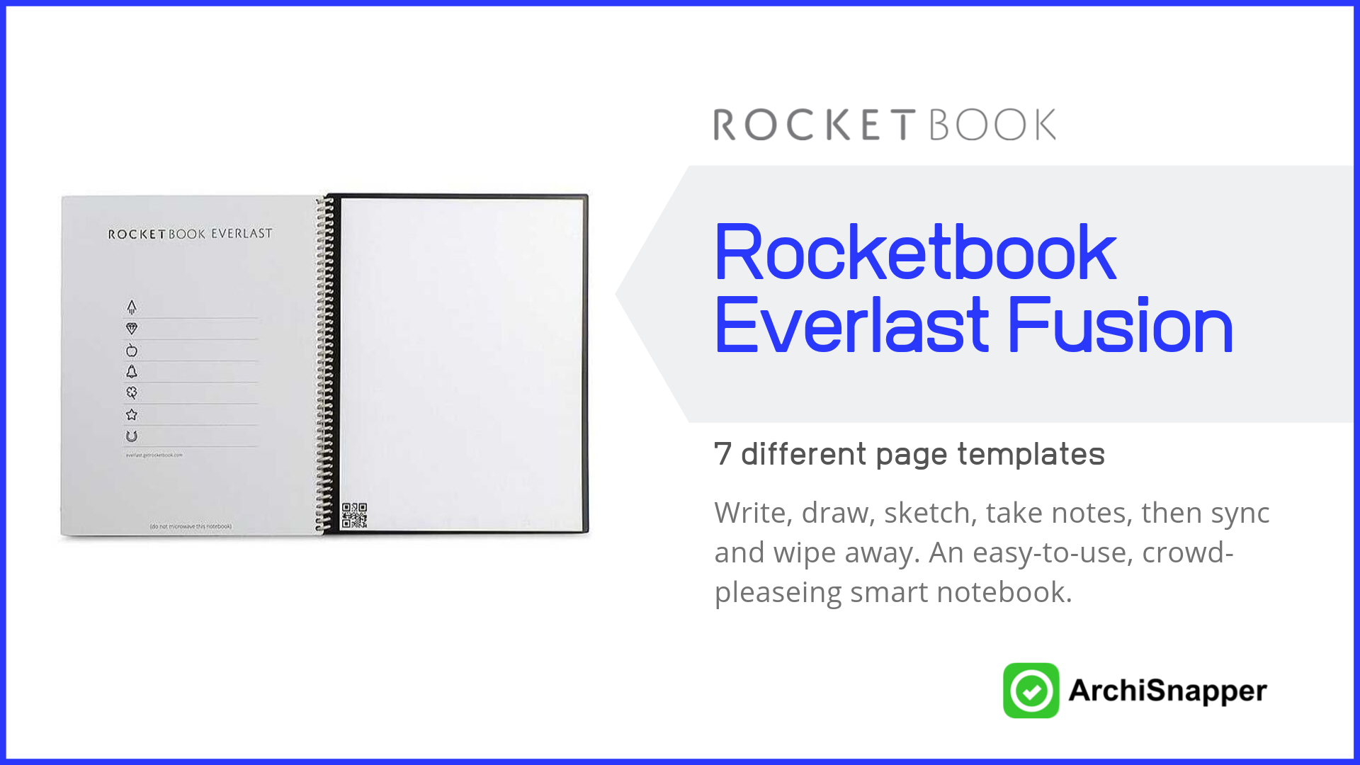 Rocketbook Everlast Fusion | List of the 15 must-have tech tools and accessories ideal for architects presented by Archisnapper