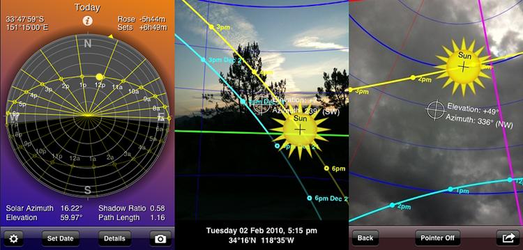 Sun seeker App - Archisnapper