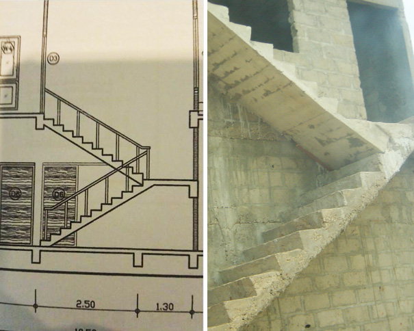 We were just following the design | Archisnapper presents 20 hilarious staircase building fails
