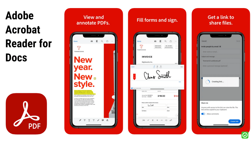 adobe acrobat reader ios apps for construction