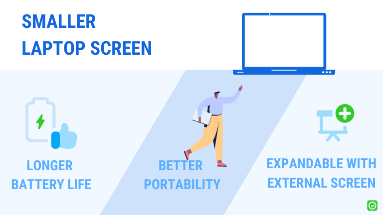 advantages of a smaller laptop screen
