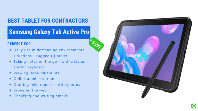 best tablet for contactors rugged device for onsite use