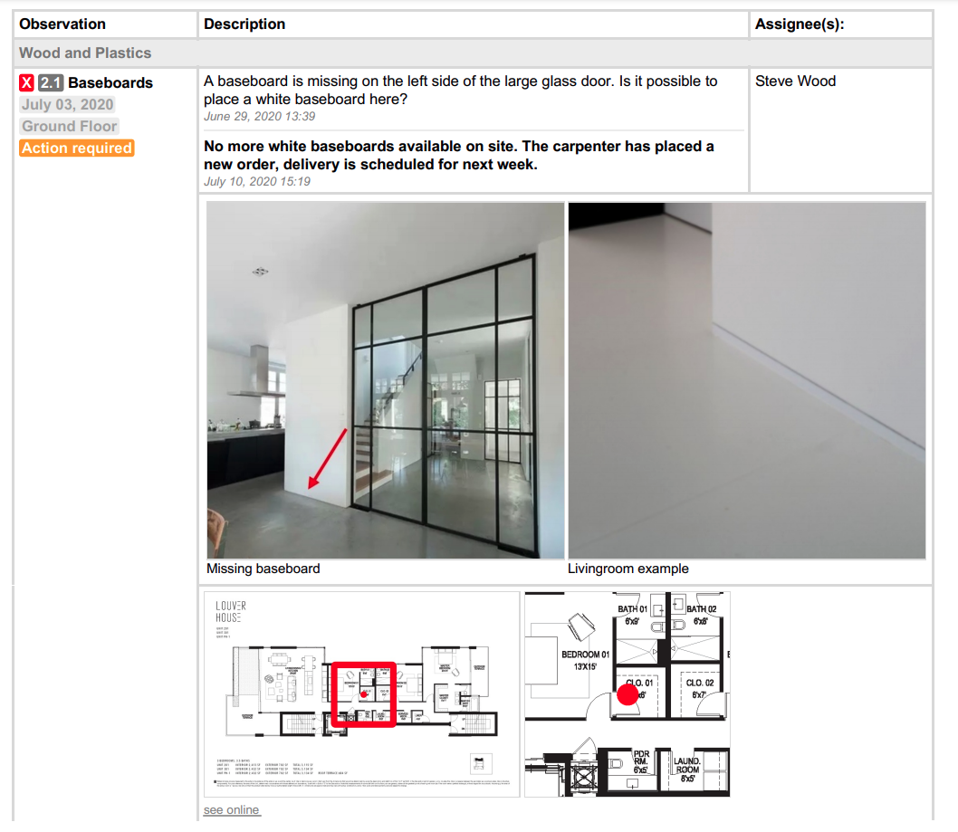 best practices for field reports for architects