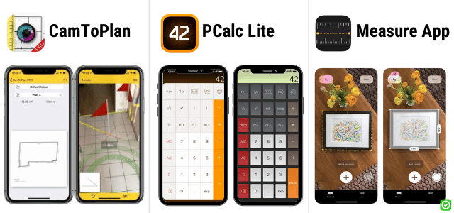 camtoplan pcalc lite measure app - ios apps for construction