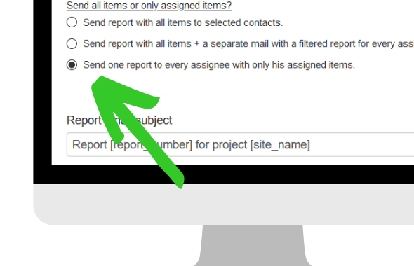 send filtered reports with ArchiSnapper