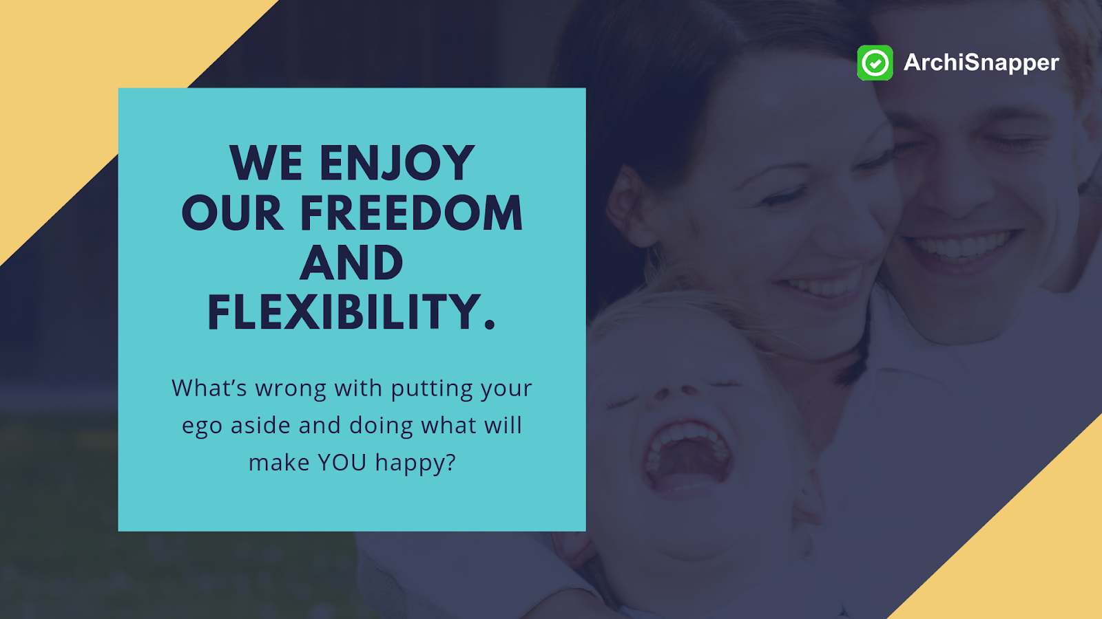 the importance of freedom and flexibility via archisnapper blog