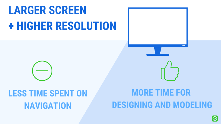 larger screen and higher resolution