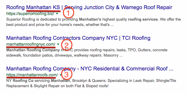 organic search results for local contractors and architects via blog archisnapper