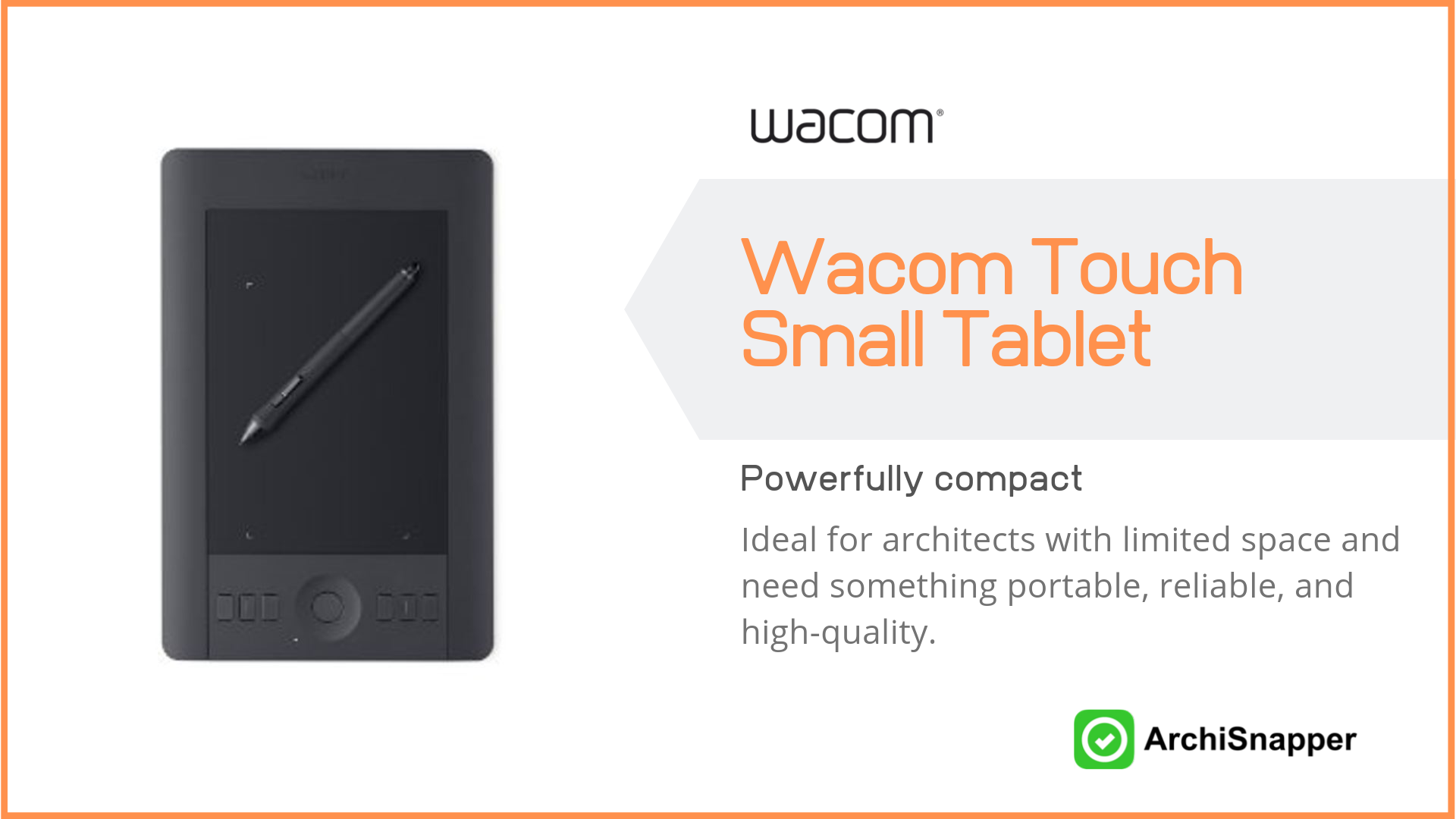 Wacom Intuos Pro Pen and Touch Small Tablet | the 15 must-have tech tools